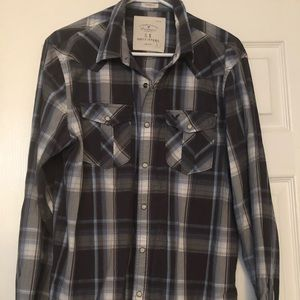 Men's AE Button Up Shirt Sz L